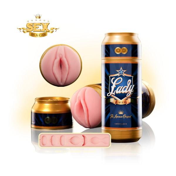 情趣用品-美國 Fleshlight Lady Lager 淡啤酒 蓮花膠條 Sex-In-A-Can Mini Lotus