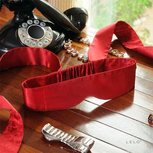 瑞典LELO*Intima Silk Blindfold Red 茵緹瑪絲綢眼罩