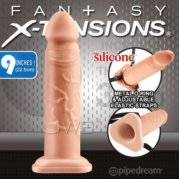 情趣用品-美國原裝進口PIPEDREAM.X-TENSIONS系列-男用穿戴空心大老二-9吋