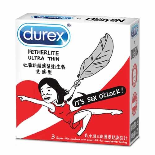 情趣用品-杜蕾斯 超薄裝更薄型衛生套3入-Duncan 限量包-Girl