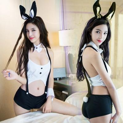 情趣用品-兔女誘惑 性感角色扮演情趣套裝-五件組