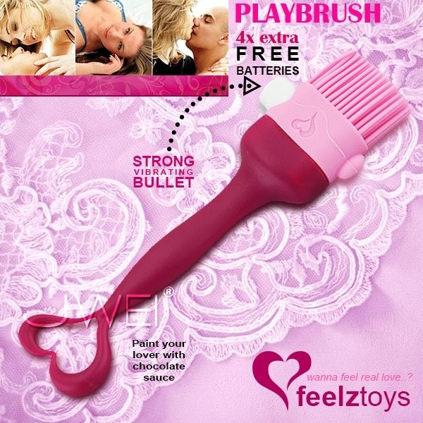 情趣用品-全新到港 荷蘭 Feelztoys Playbrush 挑逗情慾震動調情刷