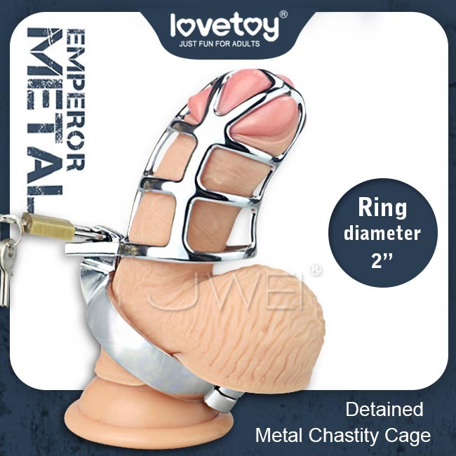 "情趣用品-Lovetoy.EMPEROR METAL Detaine 2"" 男用貞操鳥籠套"