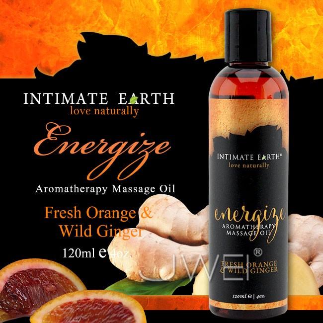 情趣用品-美國Intimate-Earth.Energize 芳香按摩油-鮮橙野薑(120ml)