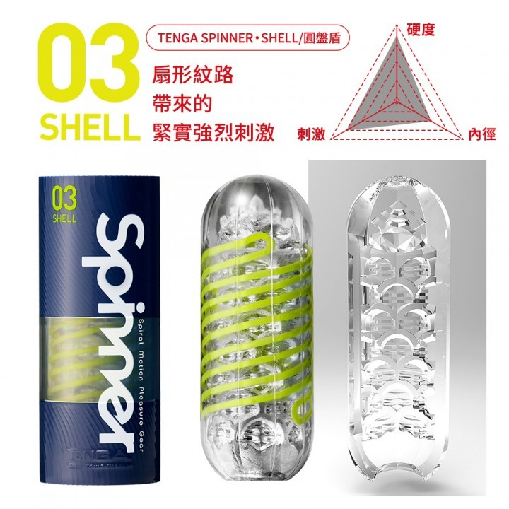 情趣用品-日本TENGA SPINNER 03 SHELL 圓盤盾 可重複使用自慰飛機杯自慰杯飛機杯成人專區男用情趣用品