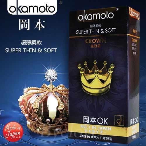 情趣用品-okamoto岡本OK經典系列 超薄皇冠型衛生套保險套10片