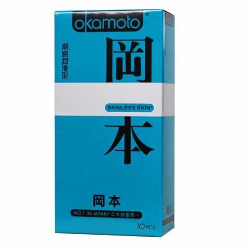 情趣用品-okamoto岡本SK輕薄系列入門款系列 潮感潤滑型衛生套保險套10片