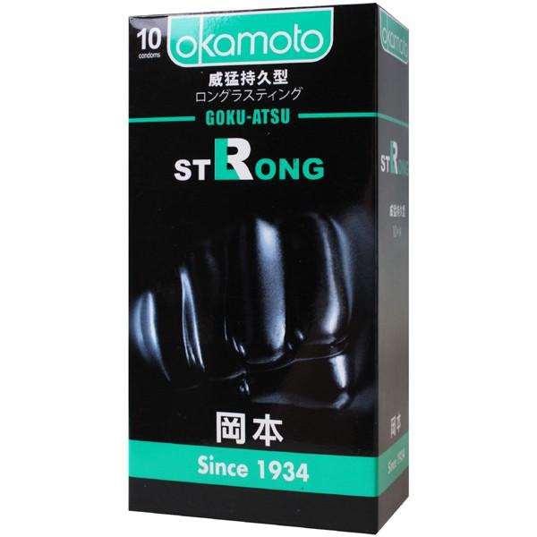 情趣用品-okamoto岡本 Strong威猛持久型衛生套保險套10片裝