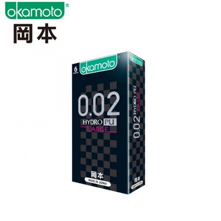 情趣用品-okamoto岡本 002L水感勁薄L大尺碼保險套衛生套6入裝