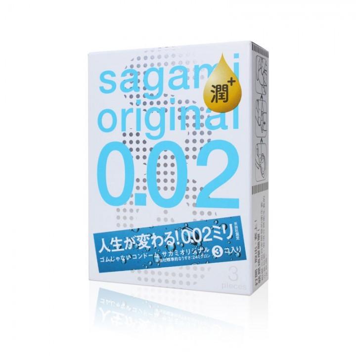 情趣用品-Sagami-相模元祖-002極潤超激薄衛生套保險套3片