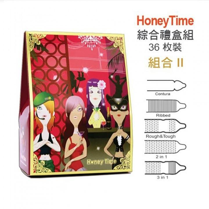 Honey Time (哈尼來 樂活套) 衛生套保險套36入(歡樂禮盒多款式綜合組II)情趣用品