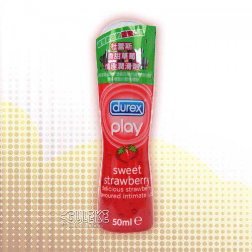 情趣用品-英國DUREX‧杜蕾斯香甜草莓情趣潤滑液 (50ml)