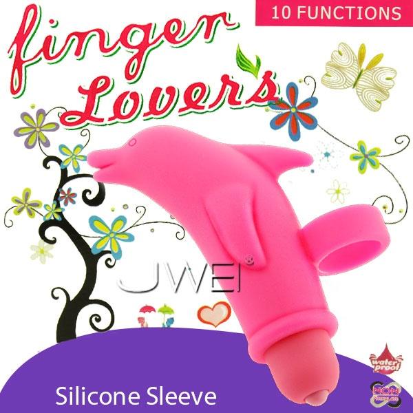 情趣用品-Finger Lover 手指情人10段變頻防水造型海豚震蛋