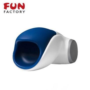 德國FUN FACTORY. 眼鏡蛇柯波拉-德國綠色科技磁吸充電式男用電動自慰器(白/藍)