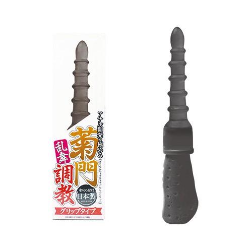情趣用品-日本NPG*菊門調教乱舞把手後庭塞(黑色) グリップ
