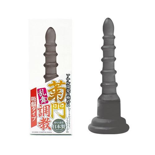 情趣用品-日本NPG*菊門調教乱舞吸盤後庭塞(黑色) スモーク