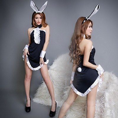 情趣用品-性感兔女 柔軟絲滑兔子套裝-五件組
