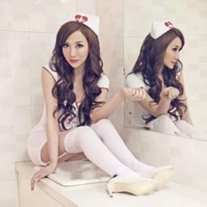 情趣用品-甜言花語 情趣內衣護士服誘惑-三件組