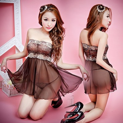 情趣用品-蜂迷蝶戀 性感蕾絲短裙-兩件組