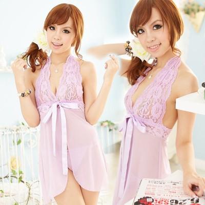 情趣用品-性感無極限魅力睡衣(紫)