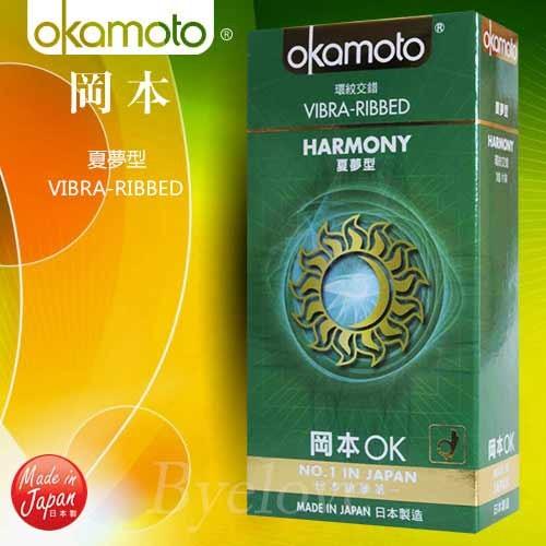 情趣用品-okamoto岡本OK經典系列 環紋夏夢型衛生套保險套10片
