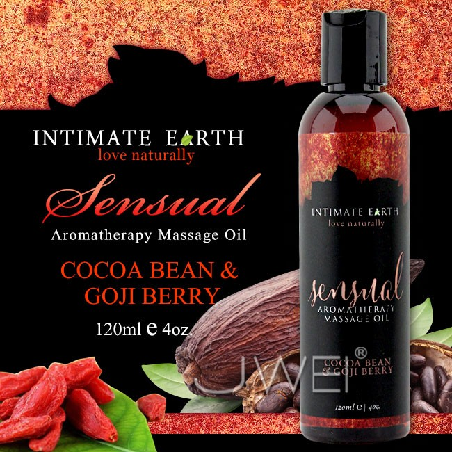 情趣用品-美國Intimate-Earth.Sensual 芳香按摩油-可可豆&枸杞(120ml)