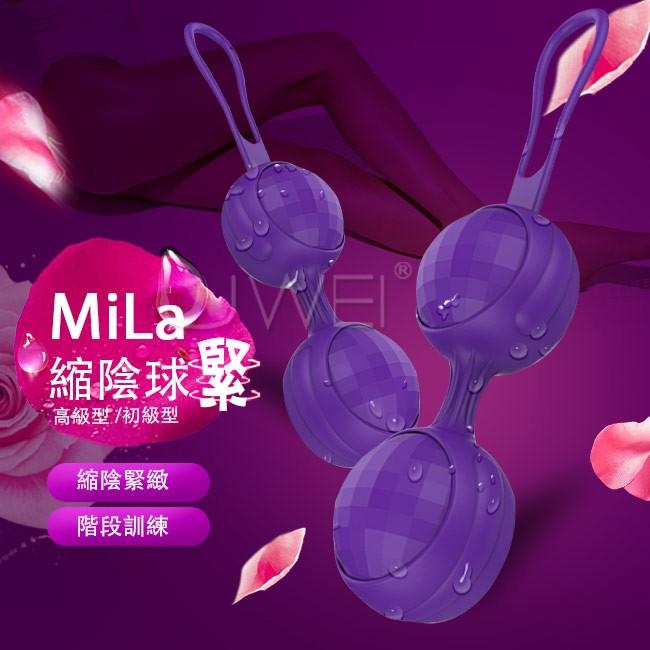情趣用品-DMM.Mila 階段訓練凱格爾縮陰球套裝組-紫色