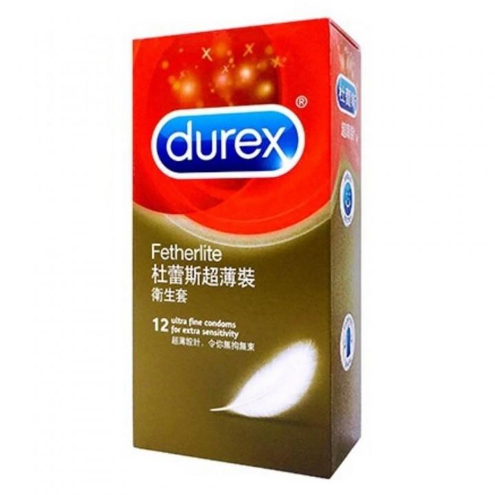 情趣用品-【杜蕾斯Durex】超薄裝保險套衛生套安全套避孕套12入