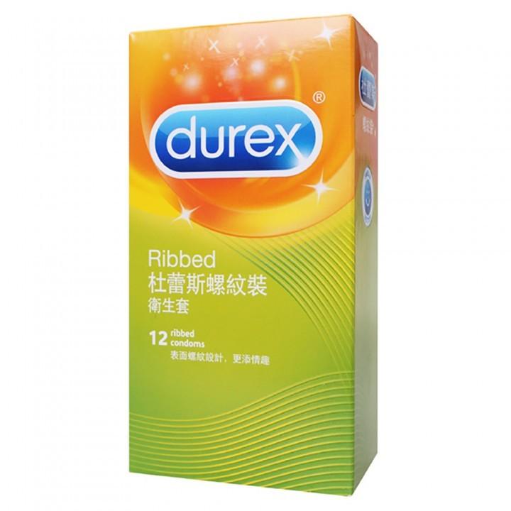情趣用品-【杜蕾斯Durex】螺紋裝保險套衛生套安全套避孕套12入