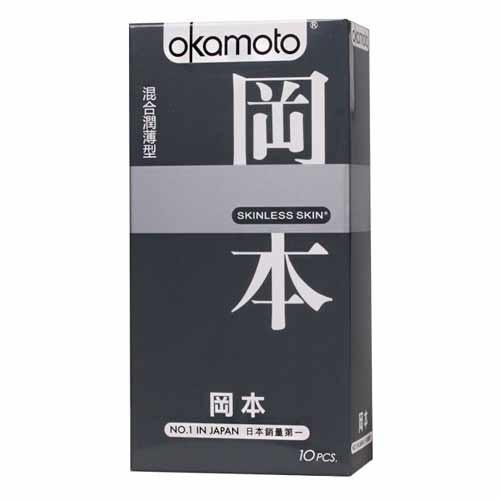 情趣用品-okamoto岡本SK輕薄系列入門款系列 混合潤薄型衛生套保險套10片