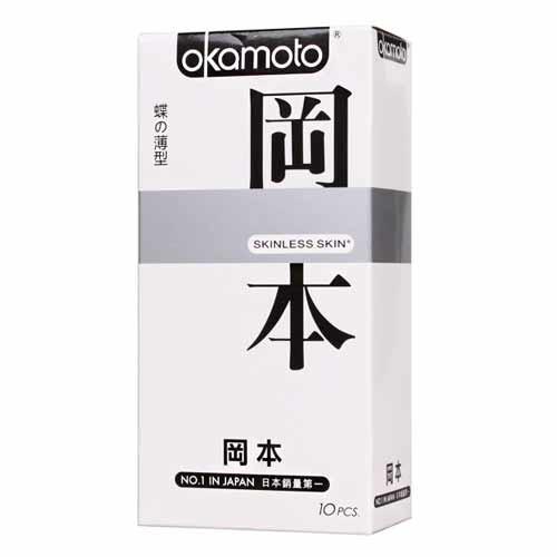 情趣用品-okamoto岡本SK輕薄系列入門款系列 蝶之薄型衛生套保險套10片
