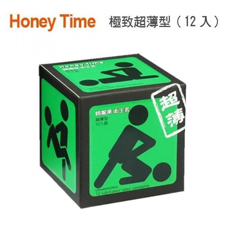 情趣用品-Honey Time (哈尼來 樂活套) 衛生套保險套12入(綠色_超薄裝)